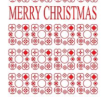 Merry Christmas Pattern Design by mosqitobite
