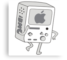 Adventure Time BMO Beemo Apple iPhone Mac Version Canvas Print