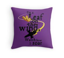 Leaf on the wind Throw Pillow