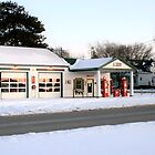 My Cousin's Gas Station on Old Route 66 in Dwight, Illinois by Susan Russell