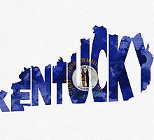 Kentucky Typographic Map Flag by A. TW
