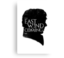 The East Wind Is Coming (Black) Canvas Print