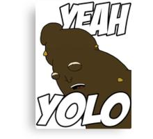 "NEW* YOLO MERCHANDISE – ""YEAH YOLO"" POO Canvas Print"