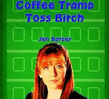 Coffee Tramp Toss.....IT Crowd Print by Ed Warick