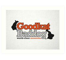 Goodkat & Baddog (Lucky Number Slevin) Art Print