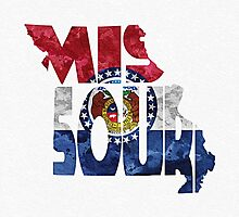 Missouri Typographic Map Flag by A. TW
