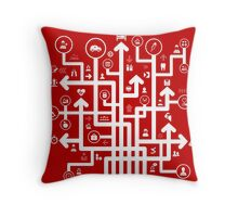 Arrow medicine Throw Pillow