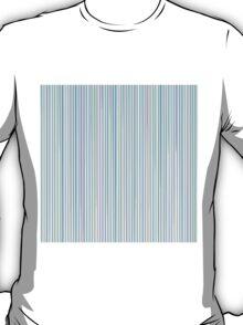 Blue Line Pattern on White Background T-Shirt