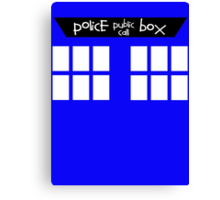 Tardis (Police Box Public Call) Canvas Print