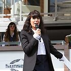 Claudia Winkleman at the Southampton Boat Show 2014 by Keith Larby