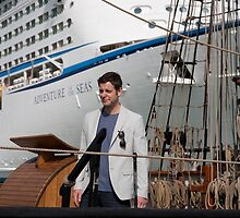 Matt Baker opens the Southampton Boat Show 2014 by Keith Larby