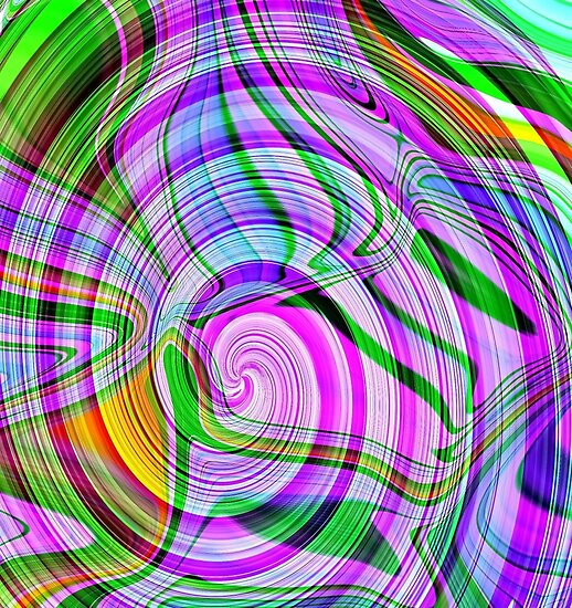 *70's Psychedelic Abstract* by DeeZ (D L Honeycutt)