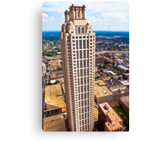 Above The Rest - 191 Peachtree On The Atlanta Skyline Canvas Print