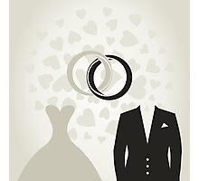 Wedding dress Photographic Print