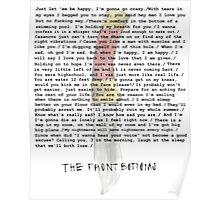 Compilation of Front Bottoms Lyrics  Poster