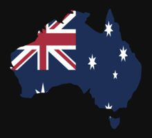 Australia Flag Country/Continent  by Parker Dietrich