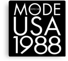 Depeche Mode : USA 1988 - 2 - White Canvas Print