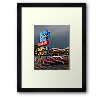Blue Top Drive-In Framed Print