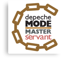 Depeche Mode : Master And Servant Canvas Print