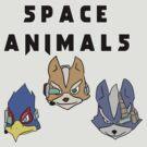 Space Animals Fox, Falco, Wolf (Smash Bros) by CalvertSheik