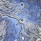 Birds on Branches – Bluish Cast by Ivana Redwine