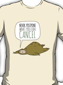 Sloth Wisdom.  T-Shirt
