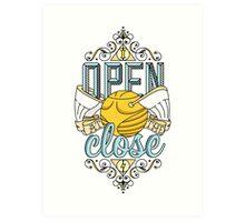 I Open At The Close Art Print