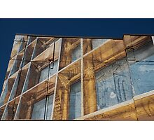 Three Dimensional Optical Illusions - Trompe L'oeil on a Brick Wall Photographic Print