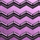 Purple Chevron Zig Zag Pattern by thepixelgarden