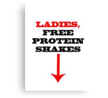 ladies free protein shakes Canvas Print