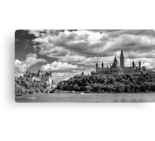 Parliament Hill Across The River Canvas Print