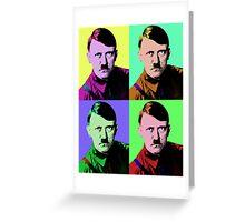 Hitler Warhol Greeting Card