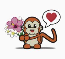Flower Monkey Love Kids Clothes