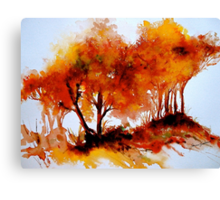 The Trees-Autumn Canvas Print