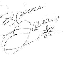 Princess Jasmine Signature by allyonlyweknow