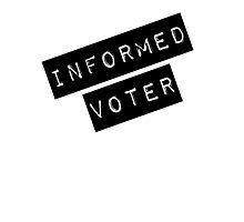 Informed Voter Label Photographic Print