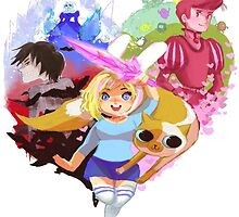 adventure time, fionna, cake and friends. by ferteban