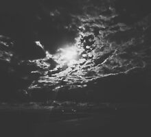 Cloudy Nights (Black&White) by Caitlin-Taylor