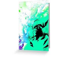 Yoda Paint splatter Greeting Card