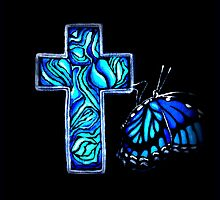 Paua Cross by Kirsty Faith Russell