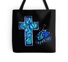 Paua Cross Tote Bag