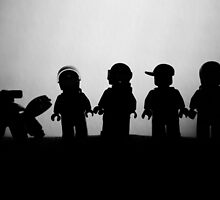 silhouette of Spacemen by garykaz