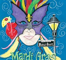 Face Of Mardi Gras ~ New Orleans ~ Acrylic Painting by Deni Morace Barbay