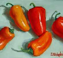 Mini Pepper Study No 3 by Margaret Stockdale