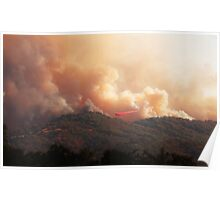 Black Bart Wildfire near Lake Mendocino Poster