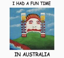 I Had A Fun Time In AUSTRALIA (Black writing on Light T-shirts) Kids Clothes