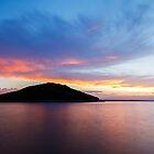 Veli Osir Island at sunrise, Losinj Island, Croatia. by Ian Middleton