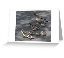 Marching Ducklings Greeting Card