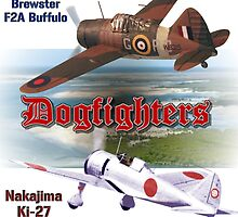 Dogfighters: F2A vs Ki-27 by Mil Merchant