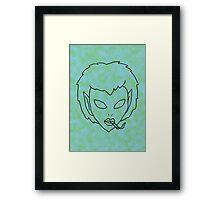 alien grunge girl - transparent Framed Print